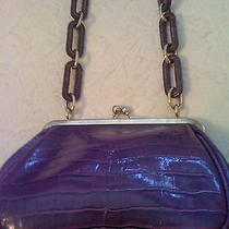 Purple Faux Croc  Handbag Photo