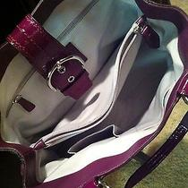 Purple Leather Coach Purse Photo