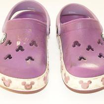 Purple Mickey Crocs 8 9 Guc Photo