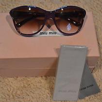 Purple Miu Miu Sunglasses With Box Photo