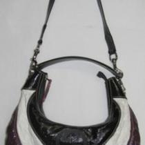 Purple Plum White Black Authentic Gucci Hobo Bag Purse 181522 304046 Photo