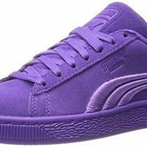 Purple Puma Suede Classic Badge Iced Sneakers Electric Purple Mens Sz 10.5 Photo