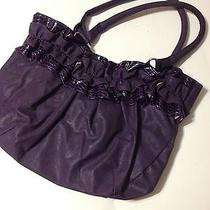 Purple Ruffled Hobo Bag Photo