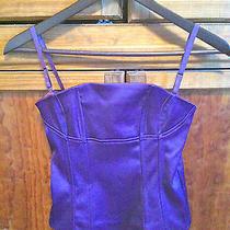 Purple Satin Bustier Corset Top h&m Size S/4 Photo