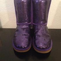 Purple Sequin Ugg Boots Photo