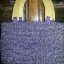 Purple Straw Purse Photo