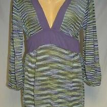 Purple Striped Light Weight Sweater Dress From Indah Size L Photo