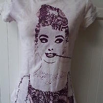 Purple Violet Lavender Audrey Hepburn Breakfast Tiffany's White T-Shirt Xs Top  Photo