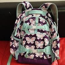 Purple & White Butterfly Backpack Photo