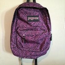 Purple Zebra Jansport Backpack Photo