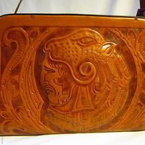 Purse Leather  Indian Head Hand Tooled  Handbag Tote Hobo Baguette Cross Body Photo