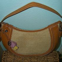 Purse Relic Hobo Beige Straw Gold Leather Used Once Photo