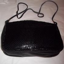 Purse Whiting and Davis Vintage Black Metal Mesh Lining Signed Shoulder Handbag Photo
