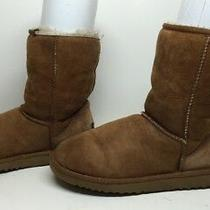 Q Womens Ugg Australia Winter Suede Brown Boots Size 7 Photo