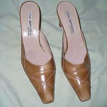 Qq via Spiga Italian Made Brown Leather Pumps Womens 9.5 M Photo