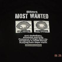 Quahog's Most Wanted Stewie Griffin T Shirt Black Family Guy Medium  Photo