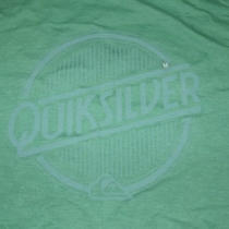 Quicksilver Green Heather Embossed Logo Size M Medium New Nwt (C2) Photo