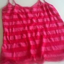 Quiksilver Roxy Womens Juniors Pink Striped Tank Top Size Smal Photo