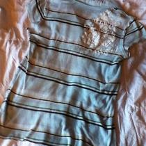 Quiksilver Roxy Womens Juniors Striped Polo Shirt Size Medium Stretchy Photo