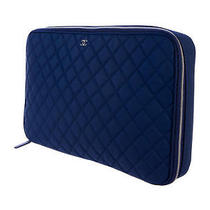 Quilted Blue Chanel Laptop Case Photo