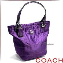 Quilted Purple Coach Bag Photo