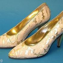 Quinceanera Wedding Special Occasion Heels/shoes Sz 6 Designer Escada Italian  Photo