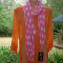 Quirky Luxury Boutique Lolly Pink Polka Dot Fashion Scarf Photo
