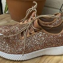Qupid Rose Gold Glitter Sneakers Womens Us Size 9.5 Photo