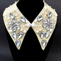 R.r. Sparkle Glass Prism Detachable Faux Collar Necklace Us Seller Fast Ship Photo