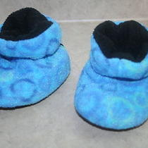 R- Shoes Baby Sz 0-6 Mo Slippers in Aqua Blue by Acorn Gently Used and So Cozy Photo