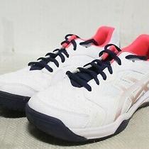 R4-478 Asics Gel-Dedicate 6 White/white Women's Running Shoes Sz 8 Photo