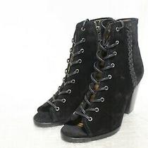 R4-881 Frye Dani Whipstitch Lace Up Women's Ankle Booties Sz 8.5 M Photo