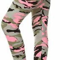 R593-Os Bloom Time Print Fashion Leggings Blush Hue Camouflage Size One Size Q Photo