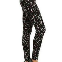 R593-Os Bloom Time Print Fashion Leggings Dipped Dots Size One Size Co3d Photo