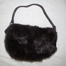 Rabbit Fur/leather Purse- Kenneth Cole Photo