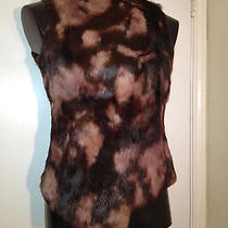 Rabbit Fur Vest Elements by Vakko Size S Photo