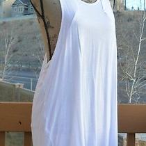 Racerback Tunic Tank by c&c California Size Medium White Color Nwt Photo