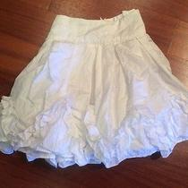 Rachael & Chloe White Taffeta Mini Skirt W/ Ruffles 7 Photo