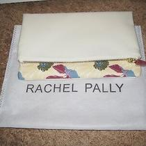 Rachel Palley Vegan Leather Reversible Clutch White Floral
