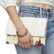 Rachel Pally Reversible Clutch Bag Floral Bloom Cream Purse Handbag Photo