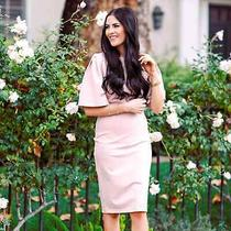 Rachel Parcell Blush Pink Flutter Sleeve Dress Xs Photo