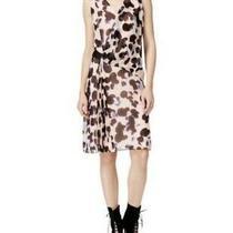 Rachel Roy Peach Blossom Abstract Floral Dress Size 14 Blush Sheath Nwt 139 Photo