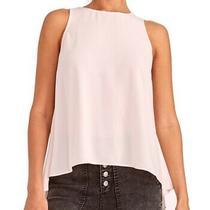 Rachel Roy Women's Blouse Blush Pink Size Xs Tank Hi Low Keyhole 79 125 Photo