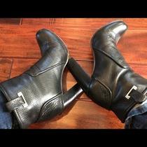 Rachel Zoe Black Charlie High Heel Booties With Buckle Detailing Size 8.5 Photo