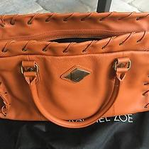 Rachel Zoe Handbag Purse Large Tote Caramel Burnt Orange Leather New  Photo