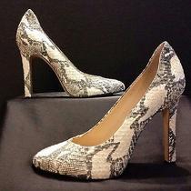 Rachel Zoe Ivory Snakeskin Pumps Size 10m (5 Inch Heel) Photo