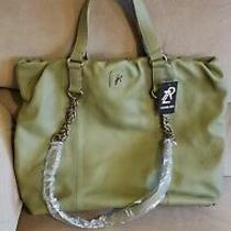 Rachel Zoe Large Green  Pebble Leather  Handbag Shoulder Bag Satchel Mint Rt. Photo
