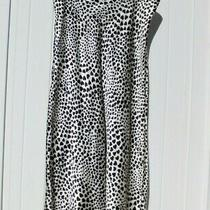 Rachel Zoe Skirt Size Large Xl Black White Long Hearts Midi Love Satin Maxi New Photo