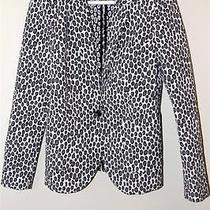 Rachel Zoe Snow Leopard Blazer Size 8 Photo