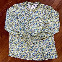 Rachel Zoe Top Blouse Long Sleeve Peasant Floral Print New Size M Photo